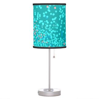 Polcas azules y rosadas lámpara de mesa