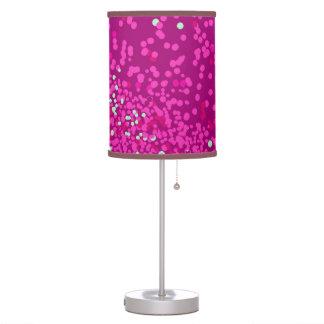 Polcas rosadas y azules lámpara de mesa