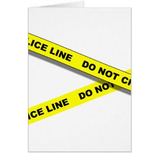 Polcie Line Stationery Note Card