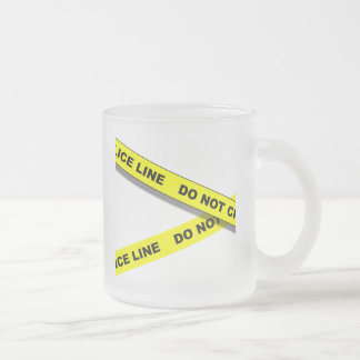 Polcie Line Frosted Glass Coffee Mug