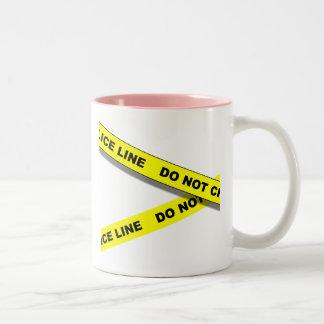 Polcie Line Two-Tone Coffee Mug