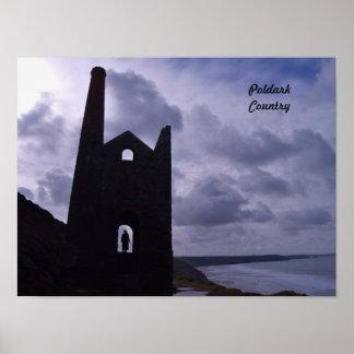 Poldark Country Cornwall England Poster