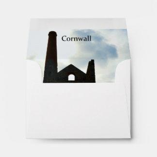 Poldark Country Mine Ruins Cornwall England Envelope