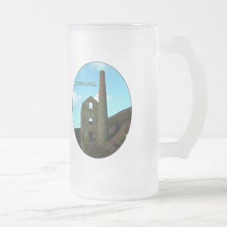 Poldark Country Mine Ruins Cornwall England Frosted Glass Beer Mug