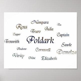 Poldark Names Poster