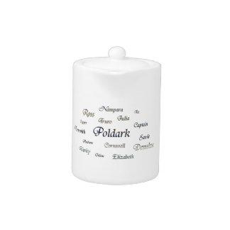 Poldark Names Teapot