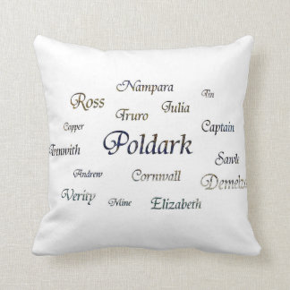 Poldark Names Throw Pillow