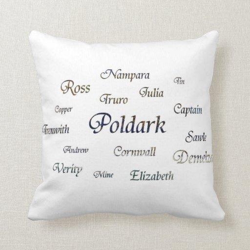 Throw Pillow Name Origin : Poldark Names Throw Pillows Zazzle