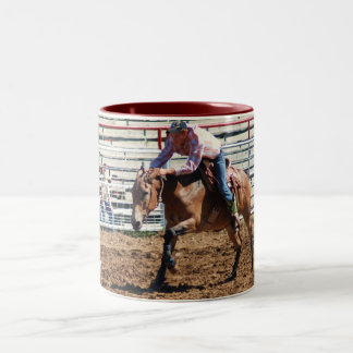 pole bending class Two-Tone coffee mug