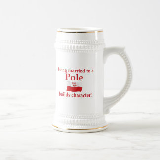 Pole Builds Character Beer Stein