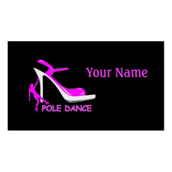 Pole Dancer and High Heel Shoe Business Card profilecard
