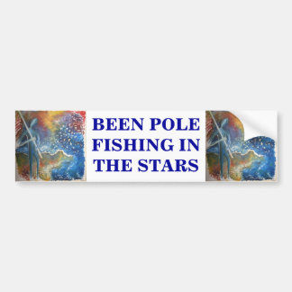 Pole Fishing In The Stars. Bumper Sticker