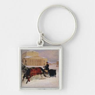Pole Pair with a Trace Horse at  Bolshoi Keychain