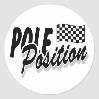Pole Position Classic Round Sticker