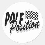 Pole position pegatina redonda