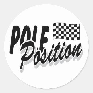 Pole Position Classic Round Sticker
