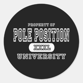 Pole Position University Dark Classic Round Sticker