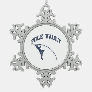 Pole Valt Snowflake Pewter Christmas Ornament