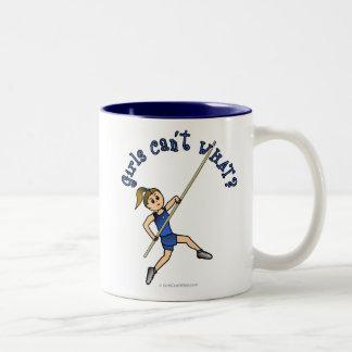 Pole Vault - Blue (Light) Two-Tone Coffee Mug