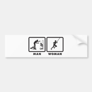 Pole Vault Bumper Sticker