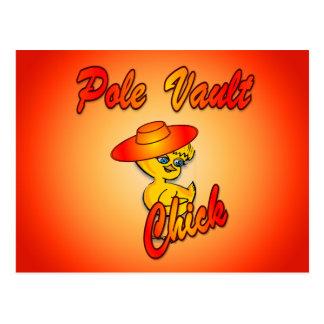Pole Vault Chick #5 Postcard