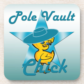 Pole Vault Chick #7 Beverage Coaster