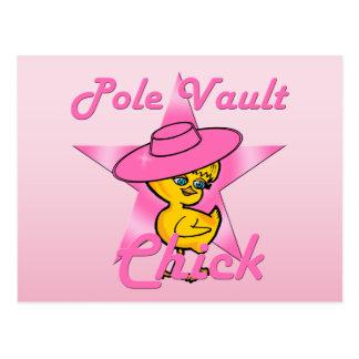 Pole Vault Chick #8 Postcard
