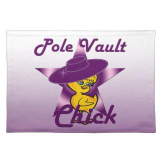 Pole Vault Chick #9 Cloth Placemat