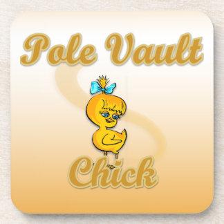 Pole Vault Chick Beverage Coaster