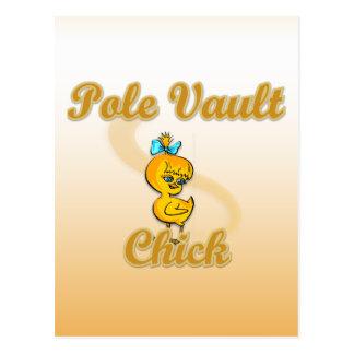 Pole Vault Chick Postcard
