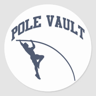 Pole Vault Classic Round Sticker