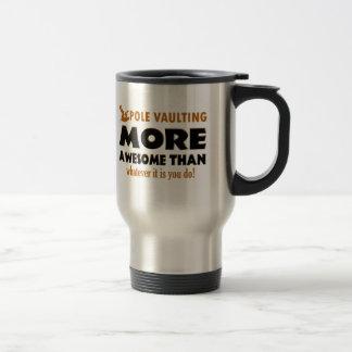 Pole vault designs 15 oz stainless steel travel mug