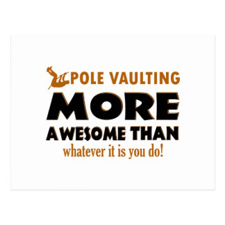 Pole vault designs postcard