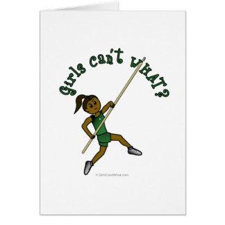 Pole Vault - Green (Dark) Card