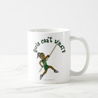 Pole Vault - Green (Dark) Coffee Mug