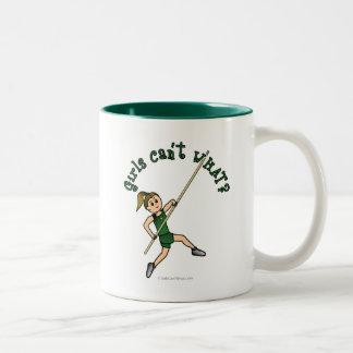 Pole Vault - Green (Light) Two-Tone Coffee Mug