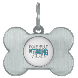 POLE VAULT OUTSTANDING PLAYER PET NAME TAG