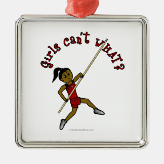 Pole Vault - Red (Dark) Christmas Ornaments