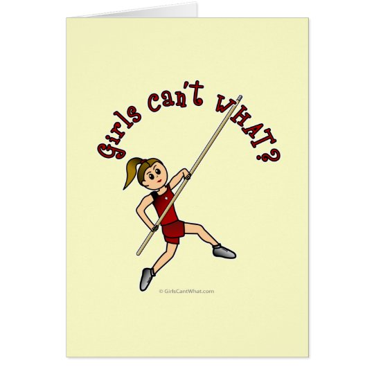 Pole Vault - Red (Light) Card