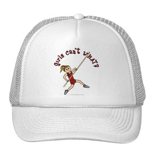 Pole Vault - Red (Light) Mesh Hat