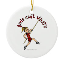 Pole Vault - Red (Light) Ornaments