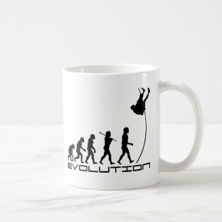Pole Vault Sport Evolution Art Classic White Coffee Mug