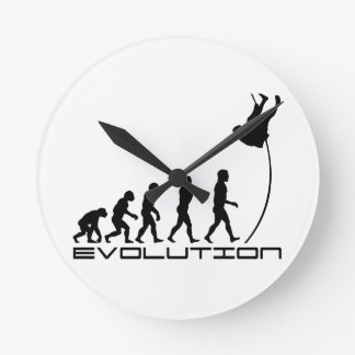 Pole Vault Sport Evolution Art Round Clock