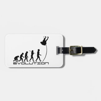 Pole Vault Sport Evolution Art Luggage Tag