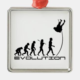 Pole Vault Sport Evolution Art Metal Ornament