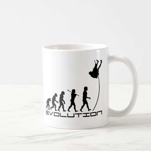 Pole Vault Sport Evolution Art Coffee Mugs