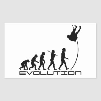 Pole Vault Sport Evolution Art Rectangular Sticker