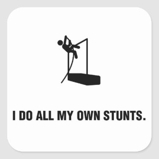 Pole Vault Square Sticker