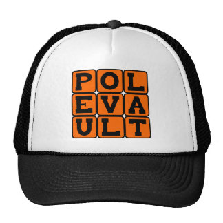 Pole Vault, Track and Field Sport Mesh Hat