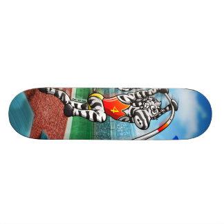Pole Vault Zebra Skateboard